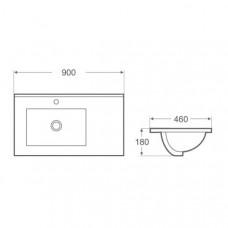 Arezzo design Texas beépíthető mosdó (AR-090B)