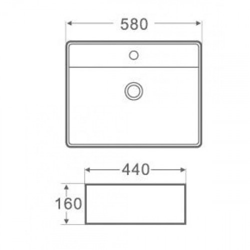 Arezzo design Miami pultra tehető mosdó (AR-299)