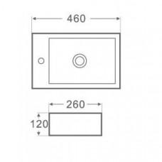 Arezzo design Baltimore pultra tehető mosdó (AR-302)
