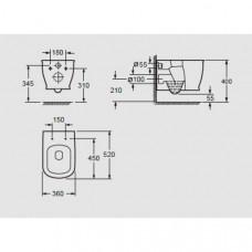 Arezzo design Charlton Rimless függesztett wc (AR-401)