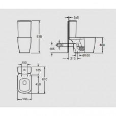 Arezzo design Charlton monoblokk wc (AR-402)