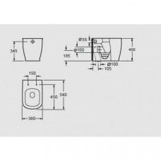 Arezzo design Charlton álló wc (AR-404)