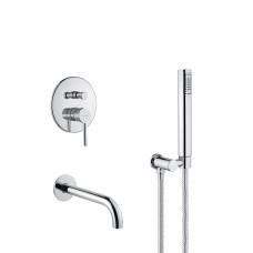 Bugnatese Smart falba építhető kádtöltő-és zuhany csaptelep szett (2173)