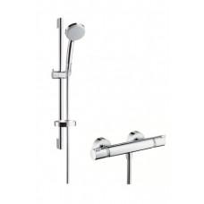 Hansgrohe Croma 100 Vario/Comfort Combi zuhanyszett termosztátos zuhany csapteleppel (27032000-HG)
