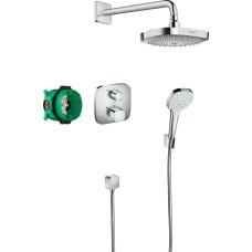 Hansgrohe Croma Select E 180 2 Jet/Ecostat E falba építhető termosztátos csaptelep szett (27294000-HG)