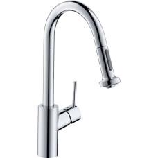 Hansgrohe Talis M52 mosogató csaptelep kihúzható zuhanyfejjel (14877000-HG)