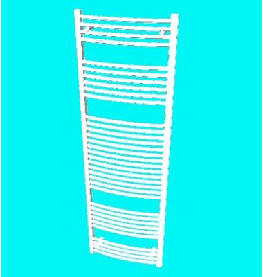 Zehnder Aura fehér íves csőradiátor (PBTZ-180-060)